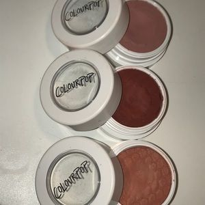 3 pack/Super Shock Colorpop eyeshadows